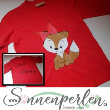 Kinder Shirt Fuchs Chaos Queen