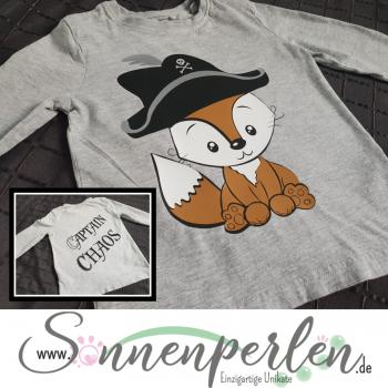 Kinder Shirt Fuchs Captain Chaos
